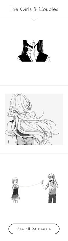 """The Girls & Couples"" by tiberius-ss ❤ liked on Polyvore featuring anime, fillers, manga, drawings, pics, effect, anime girls, art, filler and doodles"