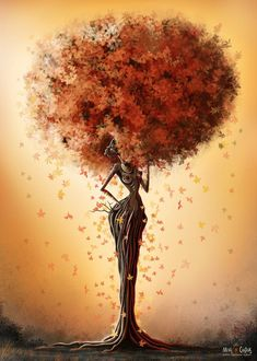 Afro-Tree by MichaelChrsitmas-Art Art Black Love, Black Girl Art, Art Girl, African American Art, African Art, Art Amour, Art Beauté, Images D'art, Arte Black