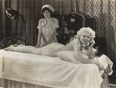 Jean Harlow #massage #telephone #1930s