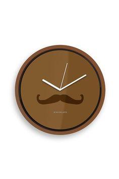Mustache Wall Clock.