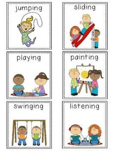 Kindergarten-First Grade Noun and Verb Sort Learning English For Kids, English Lessons For Kids, Esl Lessons, Feelings Activities, Preschool Learning Activities, Language Activities, Verbs For Kids, 1st Grade Spelling, Reading Comprehension For Kids