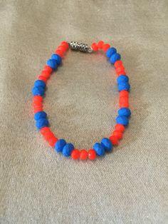 #zoecreations #orange #blue #bracelet #pulsera #jewelry #pr