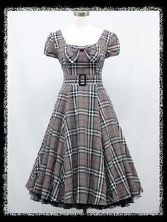 dress190-CHECK-50s-60s-ROCKABILLY-VINTAGE-PINUP-SWING-PROM-PARTY-DRESS-8-26