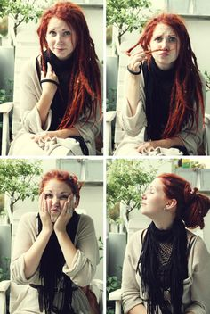 I definitely want red dreads. Red Dreads, Dreadlocks Girl, Locs, Rasta Hair, Natural Dreads, Beautiful Dreadlocks, Dark Beauty, Sheer Beauty, Dread Hairstyles