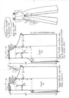Macacão envelope vintage - Best Sewing Tips Sewing Pants, Sewing Clothes, Diy Clothes, Skirt Sewing, Dress Sewing Patterns, Vintage Sewing Patterns, Clothing Patterns, Embroidery Patterns, Techniques Couture