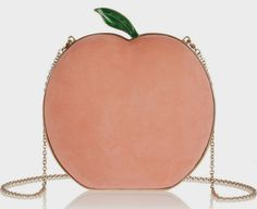 The Daily Bauble: Charlotte Olympia Pre-Fall 2014 Suede Peach Clutch | The Terrier and Lobster