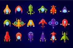 Flying Saucer, Spaceship And UFO Set ~ Web Elements on Creative Market