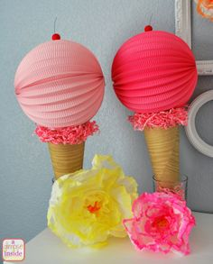 A Glimpse Inside: Ice Cream Birthday Party Decorations