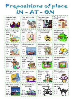 another simple WS for elementary/low intermediate students. This time for practising prepositions of place. Hope it´s useful. - ESL worksheets