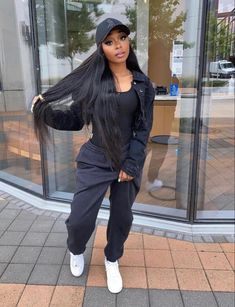 Cute Swag Outfits, Chill Outfits, Cute Lazy Outfits, Retro Outfits, Stylish Outfits, Black Girl Fashion, Girls Winter Fashion, Tomboy Fashion, Fashion Outfits