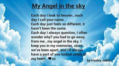 My angel in the sky