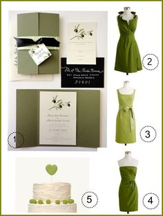 Olive Green Wedding Theme. invitations only