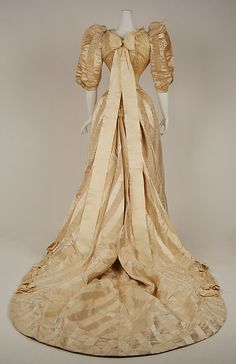 Wedding dress (back view) - American - 1892