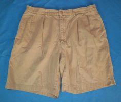 Ralph Lauren Mens Pleated Classic Chino Tyler Shorts Khaki Size 35 #8 #RalphLauren #KhakisChinos