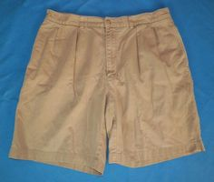 Ralph Lauren Mens Pleated Beige Khaki Tyler Chino Shorts Size 35 #8 #RalphLauren #KhakisChinos