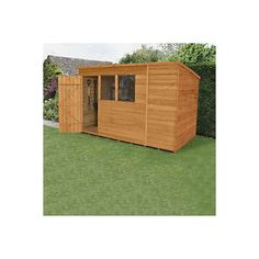 10x6 pent overlap wooden shed - Garden Sheds 10 X 5