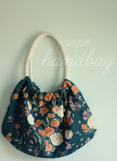 Rope handbag tutorial
