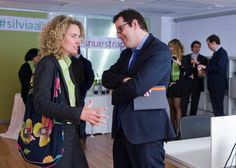 Alejandra Salinas con David Anglés, de Funds People