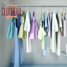 Clothely - Rangement Linge Multi-fonctions Window Curtain Rods, Shower Curtain Rods, Towel Rod, Country Curtains, Rubber Mat, Acoustic Panels, List Style, Roller Blinds, High Carbon Steel