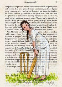 Catherine Morland Northanger Abbey - Jane Austen - 5 x 7 print