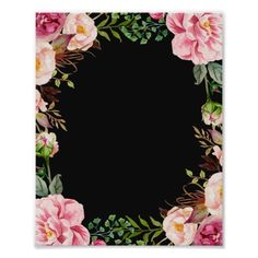 Shop Romantic Pink Floral Wreath Classy Wedding Sign created by CardHunter.