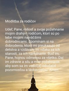 Modlitba za rodičov Catholic Art, Motto, God, Motivation, Inspiration, Dios, Biblical Inspiration, Allah, Mottos