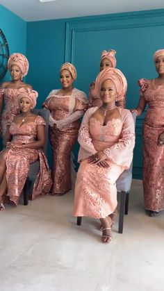 African Dresses For Women, African Attire, African Textiles, African Fabric, Traditional Dresses, Traditional Weddings, Traditional Design, Bridal Squad, Yoruba Wedding
