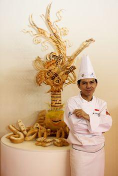 Masters de la Boulangerie 2014 – candidat d'Indonésie, YUSRIANTO, catégorie Pièce artistique /2014 Bakery Masters – candidate from Indonesia, YUSRIANTO, Artistic Piece category Copyright Clémentine BEJAT