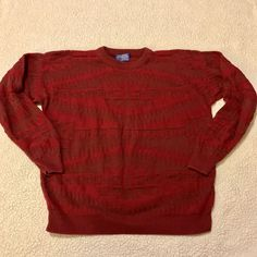 VINTAGE MENS PENDLETON WESTERN WEAR SWEATER RED LARGE L AZTEC  | eBay