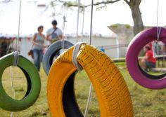 Supafrank tyre swings Wilderness festival, wayne hemingway, playful, design, sustainable