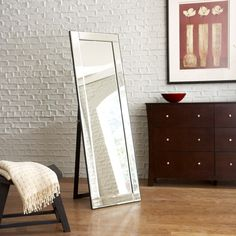allen + roth L x W Beveled Wall Mirror at Lowe's. Silver mirror provides a full-length view that adds beauty and light to your living space. Frameless mirror with beveled edges surrounding the mirror Wall Mirror With Shelf, Wall Mirrors Entryway, White Wall Mirrors, Silver Wall Mirror, Lighted Wall Mirror, Rustic Wall Mirrors, Living Room Mirrors, Round Wall Mirror, Mirror Set
