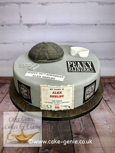Peaky blinders cake