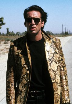 Nicholas Cage in Wild At Heart, a film of David Lynch  #sunglasses