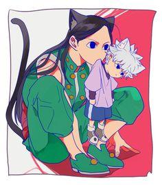 Illumi zoldyck and killua zoldyck cute Hunter x Hunter Hunter X Hunter, Hunter Fans, Hunter Anime, Killua, Hisoka, Zoldyck Family, Hxh Characters, Fanart, Another Anime