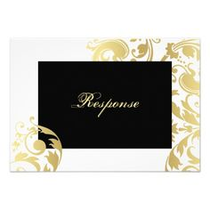 ReviewWhite & Gold Shimmer Floral Wedding Response RSVP Custom AnnouncementsIn our offer link above you will see