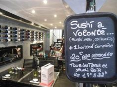 100% Sushi, 8 Rue du Collet, Vieux Nice. Delicious sushi served in smart surroundings!