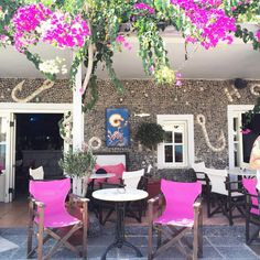 "BELL on Instagram: ""Closing summer out with a Greek Adventure   #Travel #inspiration #BELL #Greece #Santorini #pink #love #fashion #beaches #travelstyle #GreekIslands #style #resort #summer #beachwear #vacation #boho"""