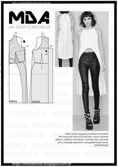 ModelistA: A4 NUM 0082 DRESS asymmetric  high low