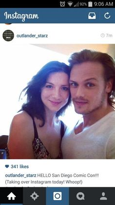 New Instagram photo of Cait and Sam. #Outlander #SDCC pic.twitter.com/eQvQC5S98T