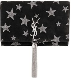 Shop for Kate Monogram Stars Suede Chain Bag by Saint Laurent at ShopStyle. Yves Saint Laurent, Saint Laurent Purse, Saint Laurent Handbags, Glitter Purse, Tassel Purse, Fab Bag, Monogrammed Purses, Suede Handbags, Shoulder Strap Bag