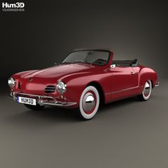 model of Volkswagen Karmann Ghia convertible 1958 Volkswagen Karmann Ghia, Volkswagen Bus, Vw Classic, Best Classic Cars, My Dream Car, Dream Cars, Karmann Ghia Convertible, Vw Vintage, Modelos 3d