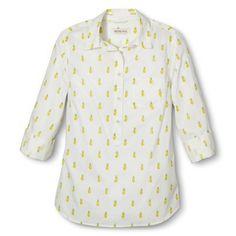 Pineapple top! Merona® Women's Popover Favorite Shirt.
