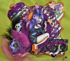 Halloween copic card for Crafts and Me Marika Collins Tallulah