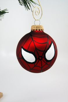 Items similar to Spiderman Mask Christmas Ornament on Etsy Items similar to Spiderman Mask Christmas Ornament on Etsy Painted Christmas Ornaments, Christmas Baubles, Christmas Tree Decorations, Disney Christmas, Christmas Art, Etsy Christmas, Diy Weihnachten, Holiday Crafts, Avengers