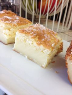 Magic Cake - three layers, the middle one custard-y. Easy. Can't wait to try it!