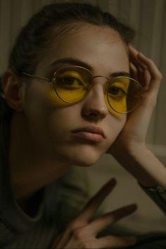 c291099bd60 Camille Hurel in vintage round metal sunglasses shades topmodel lunettes de  soleil