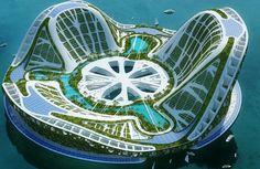 Arcología, arquitectura ecológica futurista                              …