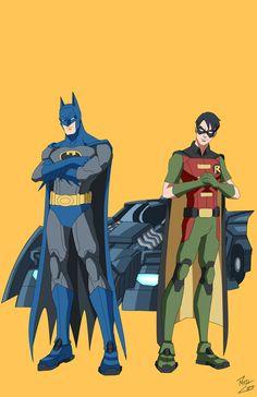 Batman + Robin by phil-cho on deviantART