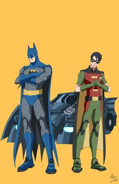 Batman + Robin by phil-cho on deviantART