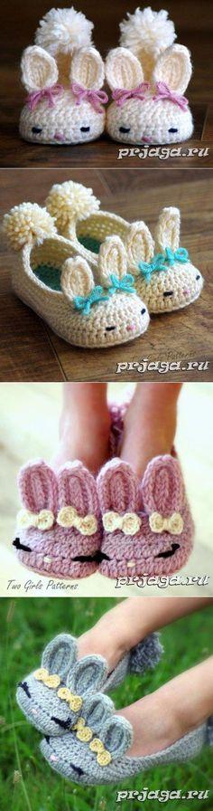the cutest slippers free crochet Crochet Baby Boots, Knitted Booties, Crochet Slippers, Crochet Clothes, Crochet Shell Stitch, Knit Crochet, Cute Crochet, Baby Knitting Patterns, Crochet Patterns